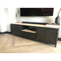 TV-Tisch aus Stahl und...