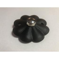 Stahltürklingelkappe Flower