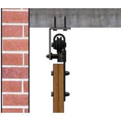 Retro Barn Schiebesystem mit Deckenhalterung - für 1 Flügel