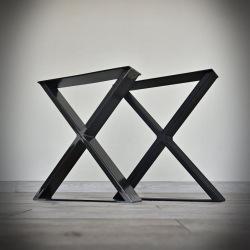 Stahlfuß für Esstisch Typ X glatt