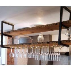 Stahlkonsole für Küche über Insel